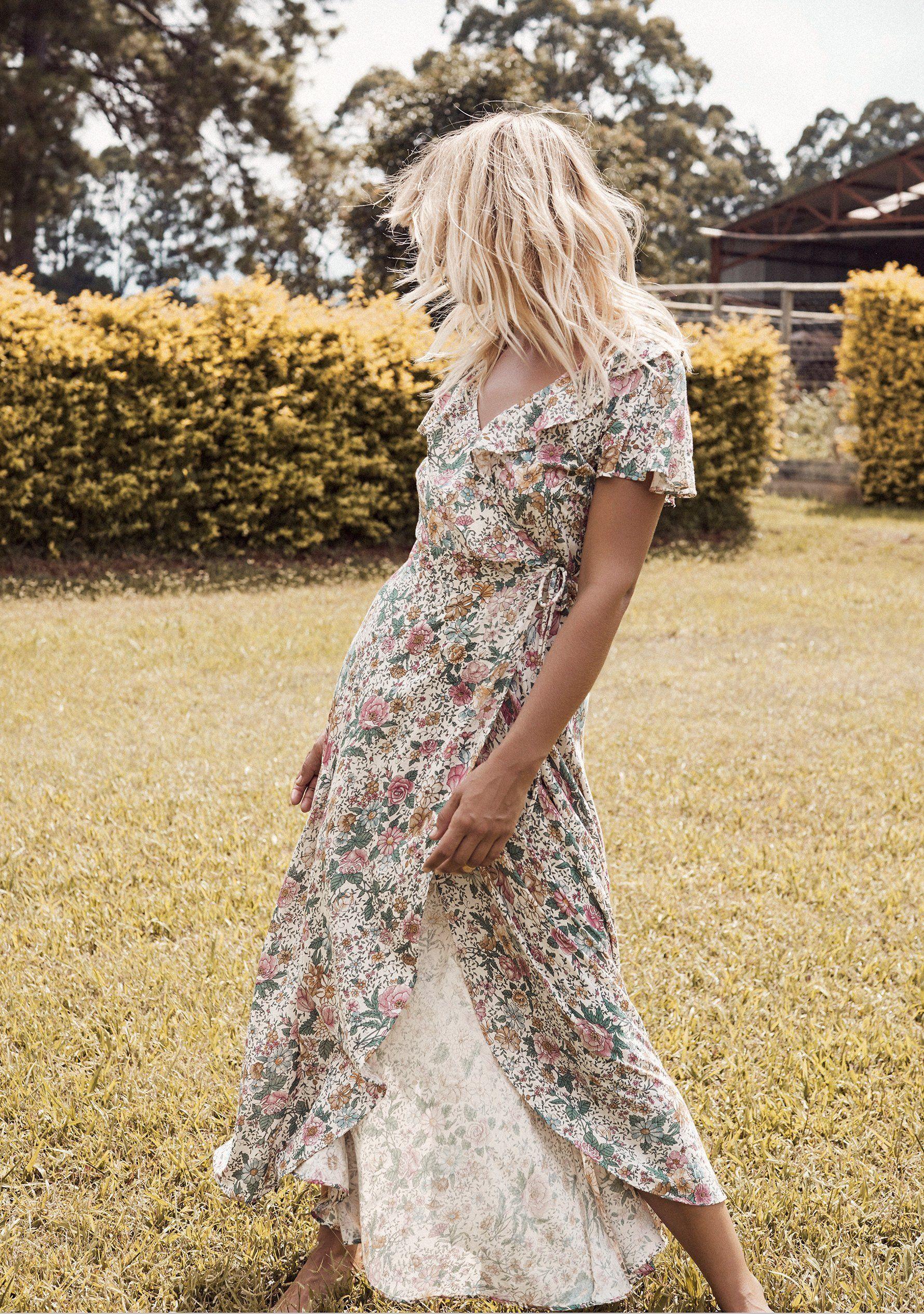 Floral Maxi Dress Summer Style Maxi Wrap Dress Summer Maxi Dress Floral Maxi Dress [ 2530 x 1780 Pixel ]