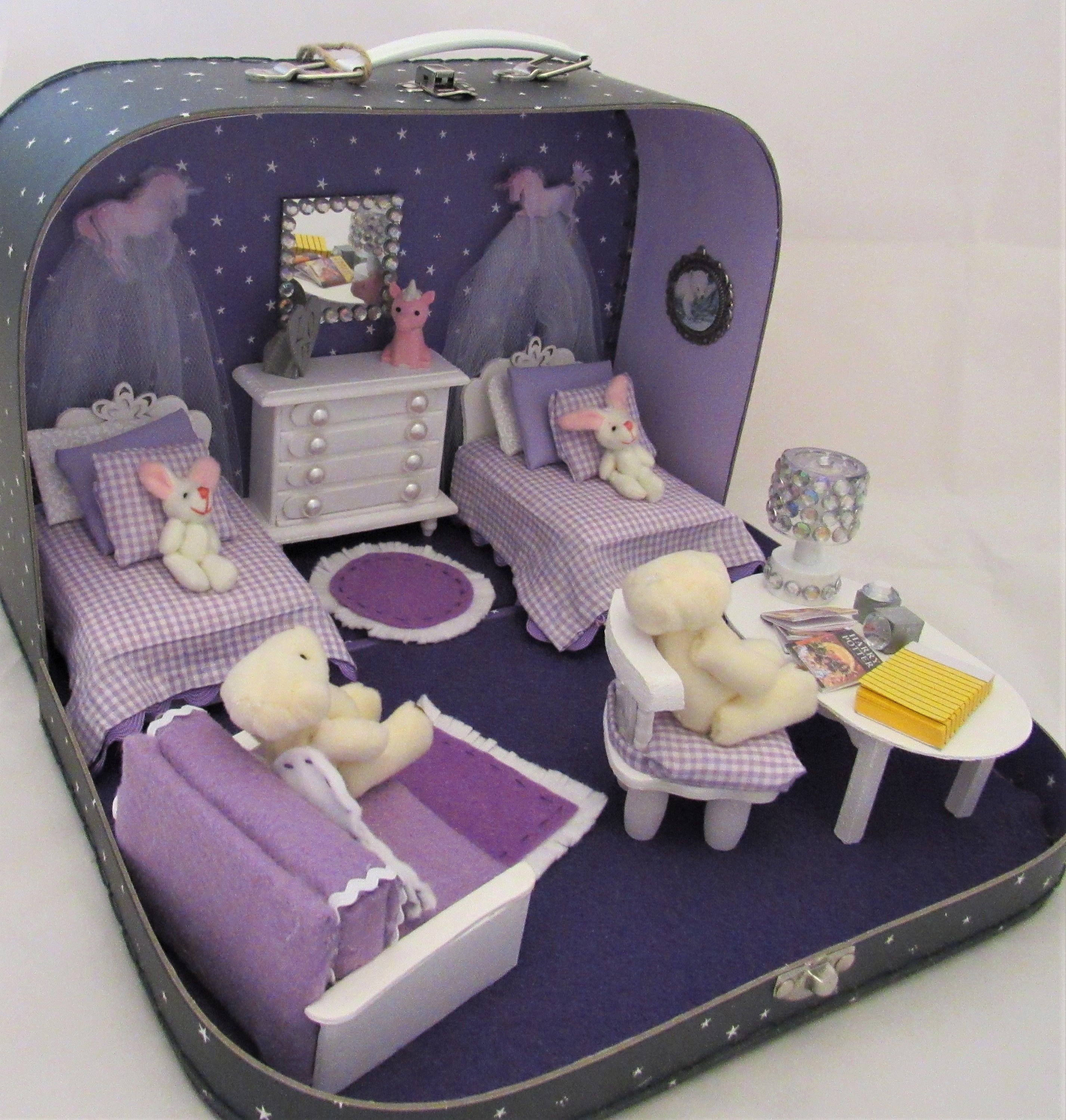 Suitcase Doll House by