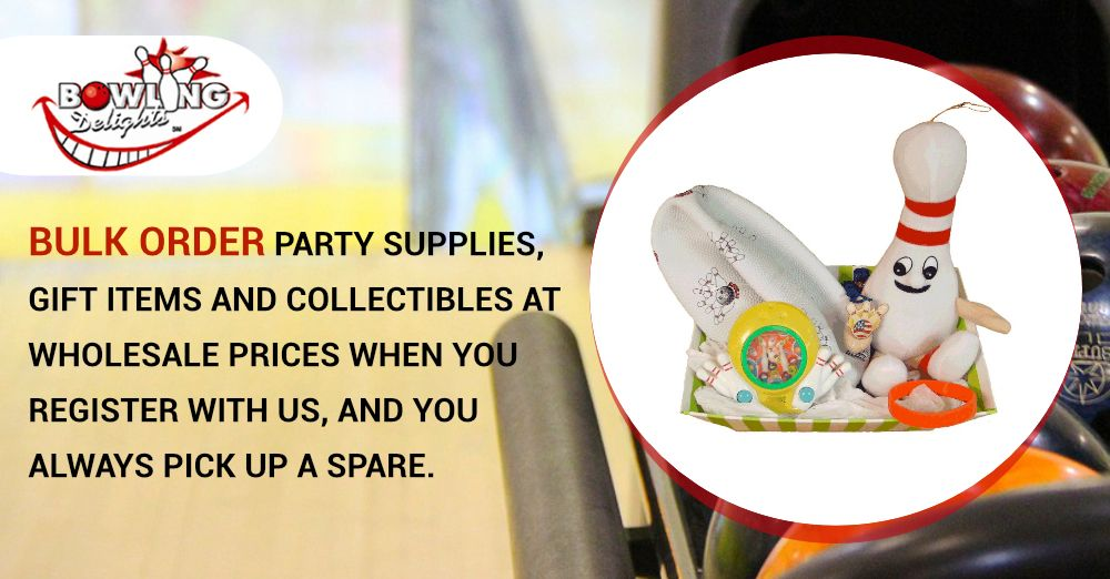 Bulk Order Party Supplies Gift Items And Collectibles At Wholesale Prices When You Register With Us And You Bowling Gifts Party Supplies Bowling Accessories