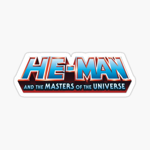 He Man And Masters Of The Universe Logo Sticker By Mizoart In 2021 Masters Of The Universe Logo Sticker Vinyl Sticker