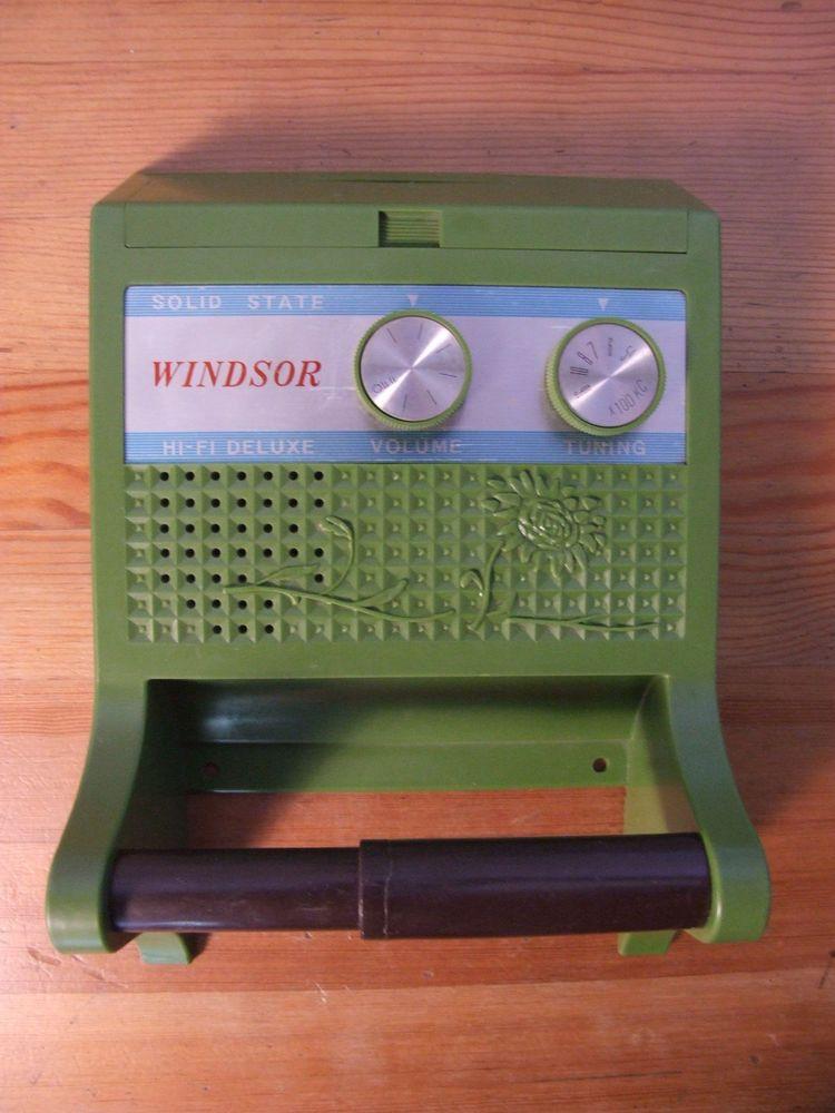 Vtg Windsor Solid State Hi Fi Delux Radio Toilet Paper