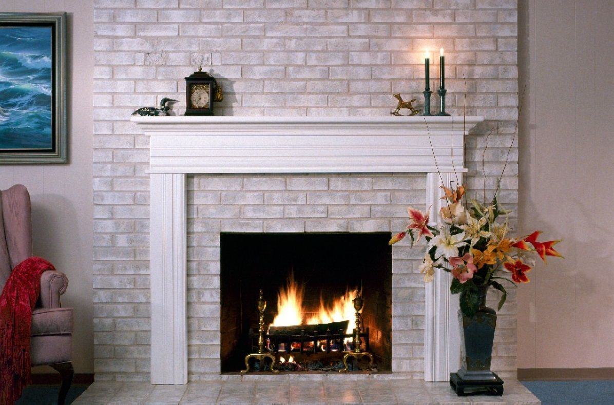 How to paint a Brick Fireplace to look like Stone в 2020 г