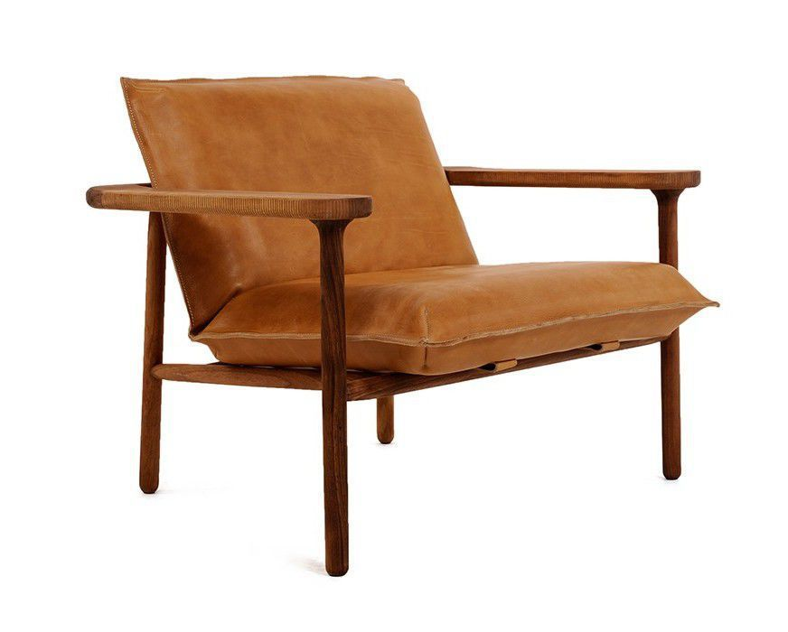 Scandinavian Design Armchair Solid Wood Leather Igman By Harri Koskinen Zanat Chair Scandinavian Design Armchair Armchair