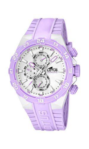47ae93b866e5 Lotus 15800 A - Reloj analógico de cuarzo para mujer con correa de plastico  morado