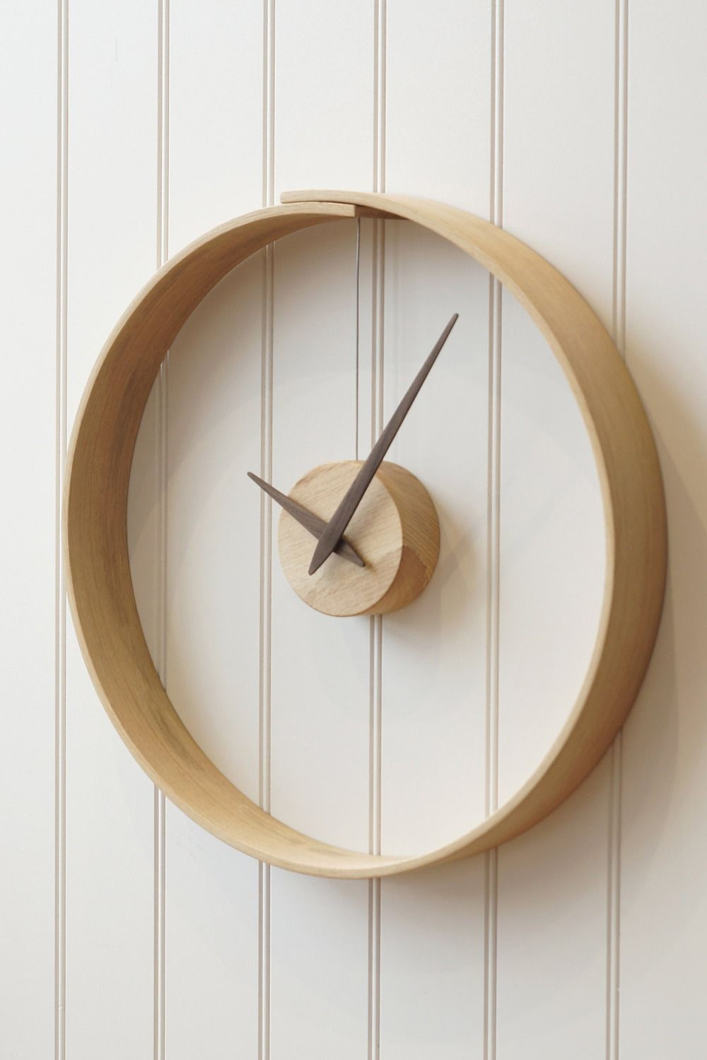 55d69f5e8b193 Functional. Statement piece. This wood clock does it all.