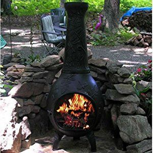 Amazon Com Chiminea Outdoor Fireplace Blue Rooster Alch014 Ch