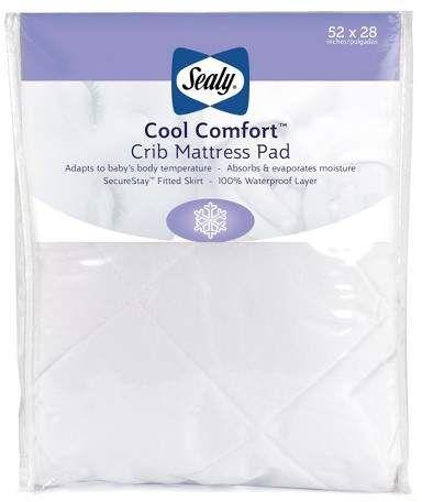 Sealy Cool Comfort Waterproof Crib Toddler Mattress Pad Size