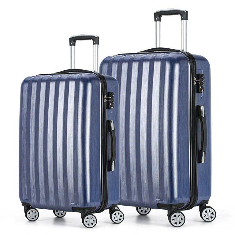 601630306088 Fochier Luggage 2 Piece Set Lightweight Spinner Suitcase with TSA ...