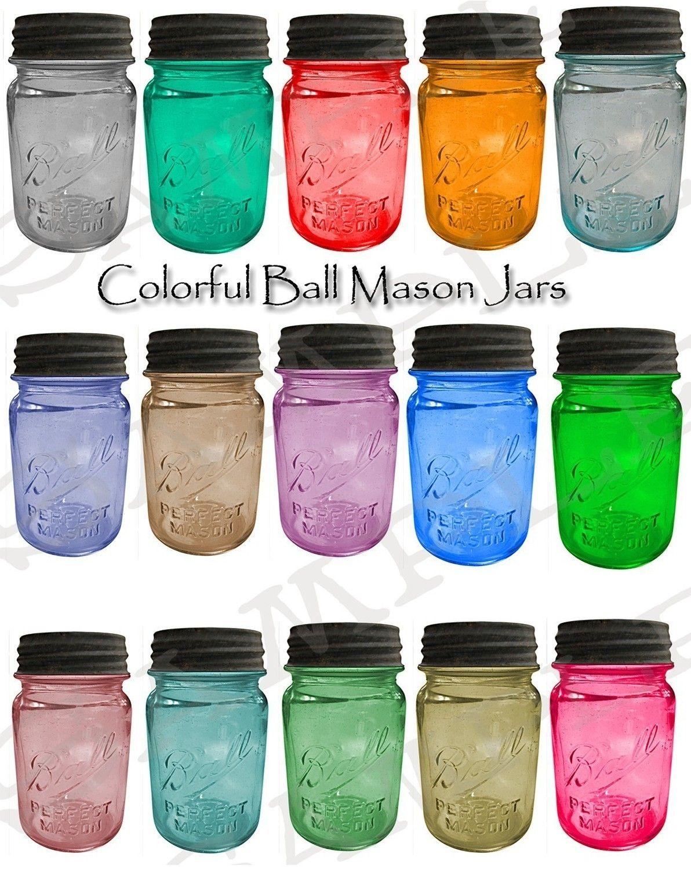 Mason Jars Wholesale Colorful Ball Mason Jars Collage Sheet By