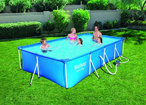 Bestway Piscine Hors Sol Rectangulaire Bleue Steel Pro 400 X 211