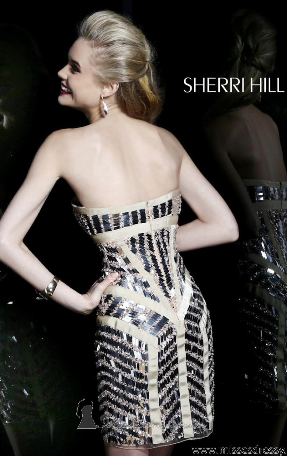 Paillette Embellished Dress by Sherri Hill