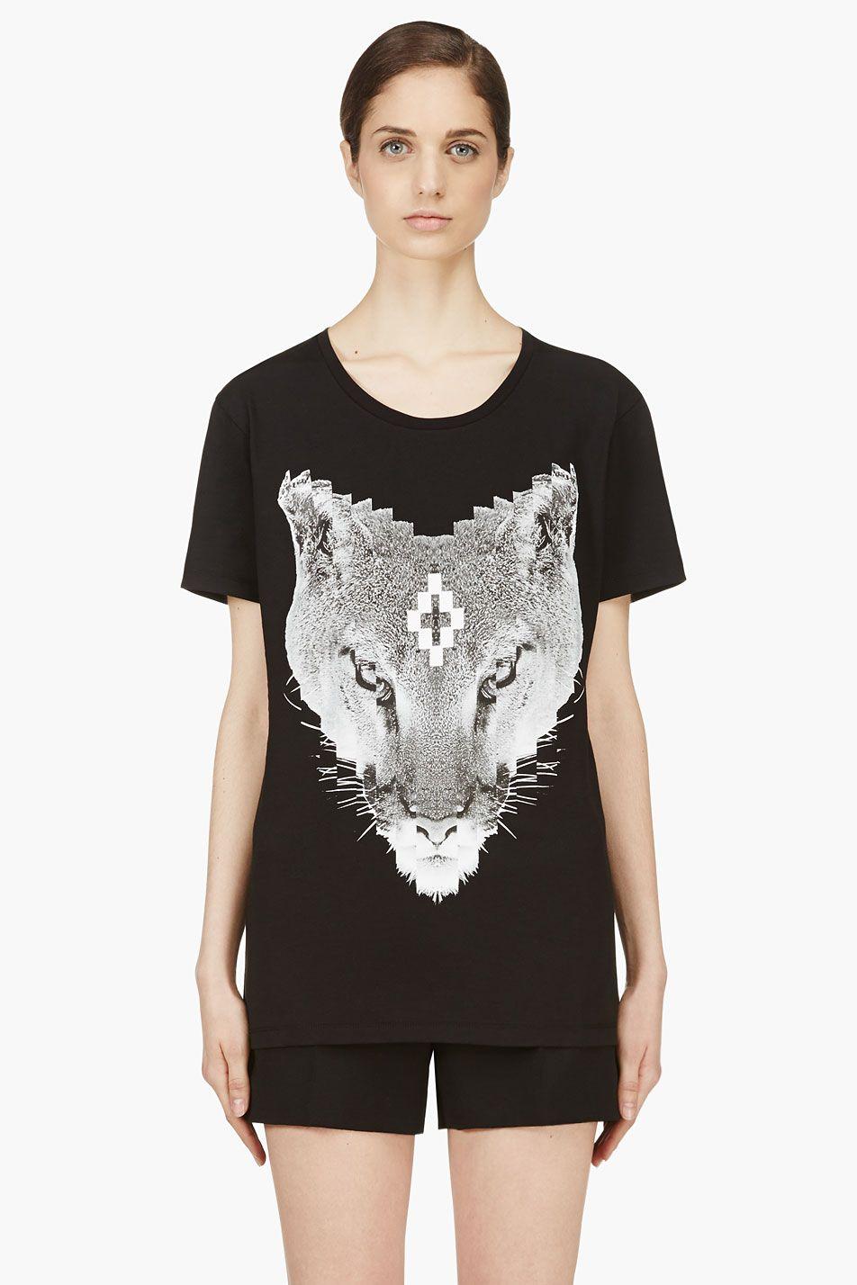 #marceloburlon #tshirt #cat #lynx #wils #black #dark #gothic #chic #cool #fashion