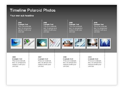 Timeline Polaroid Photos Diagram    wwwpoweredtemplate - advertising timeline template