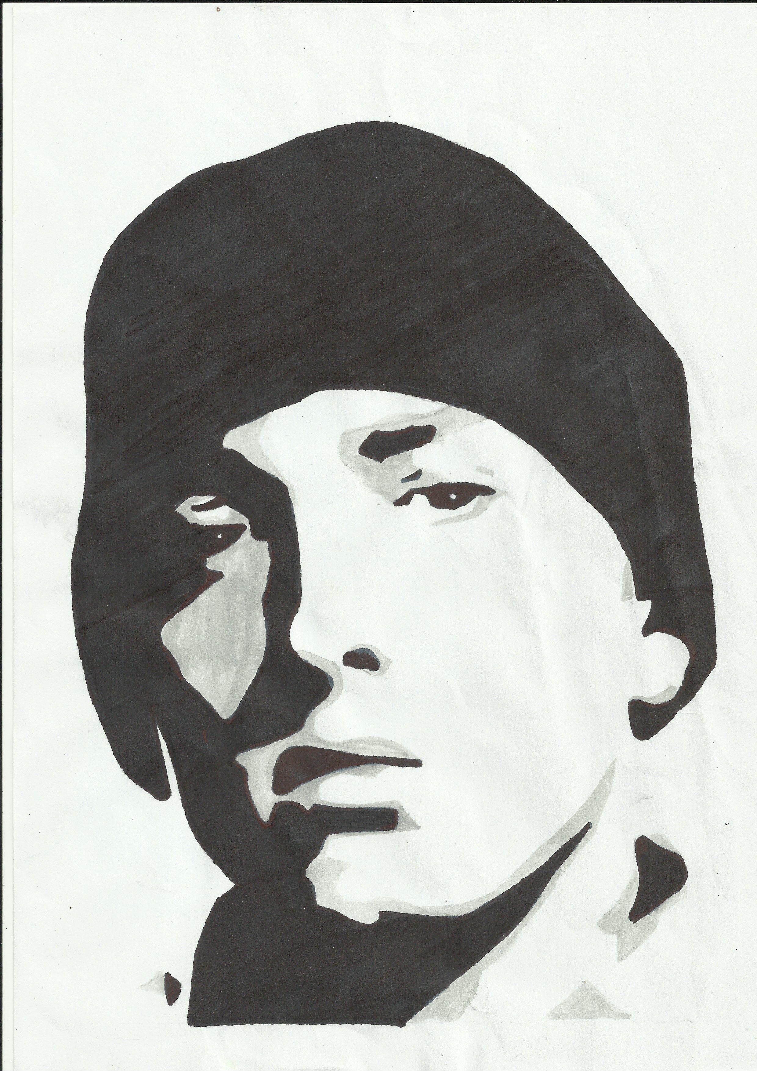 Eminem silhouette art pinterest eminem for Eminem wall mural