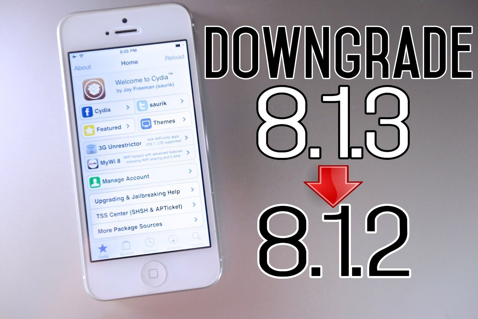 How to downgrade from ios 813 to 812 stepbystep on