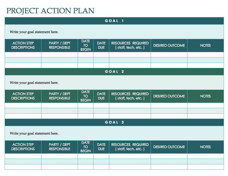 Free Action Plan Template Template Pinterest Goal setting - Event Plan Template