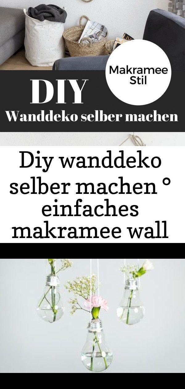 Diy wanddeko selber machen ° einfaches makramee wall hanging 39 #wanddekoselbermachen