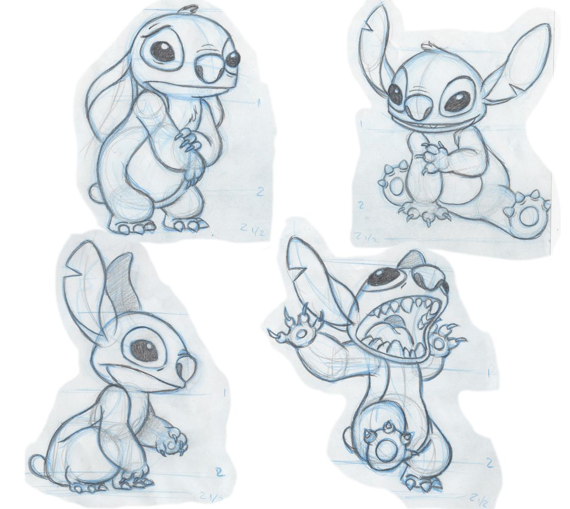 Stitch Basic Shapes Assignment CHARACTER DESIGN