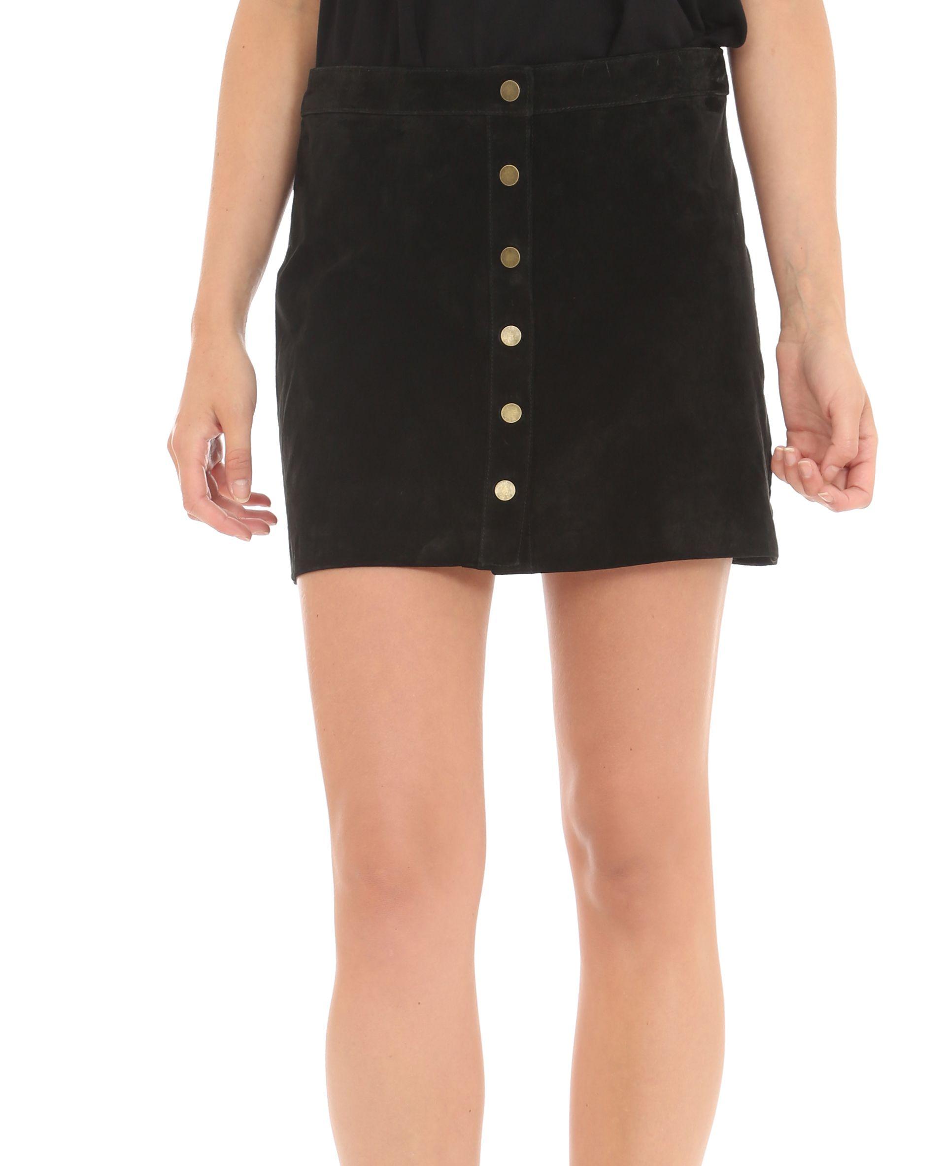 6dc5b89447a5ea Jupe boutonnée en cuir - Une jupe aux allures 60's, on adore ...