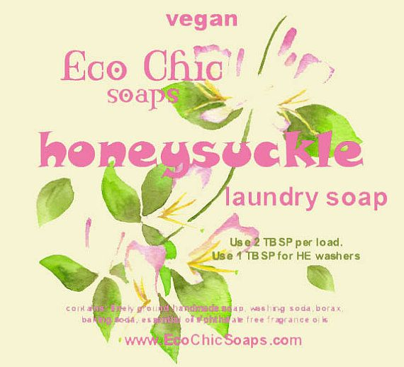 Honeysuckle Laundry Soap Natural Laundry Soap By Ecochicsoaps