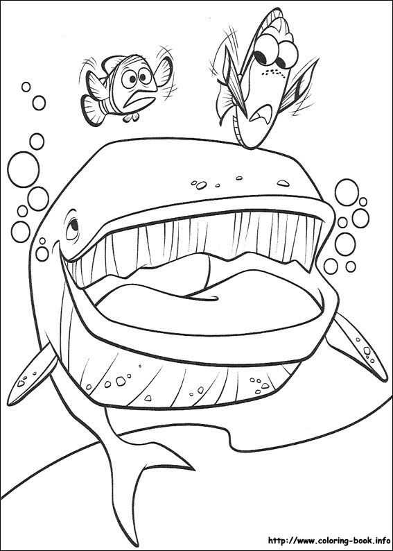 Finding Nemo coloring picture   xanders room   Pinterest   Finding ...