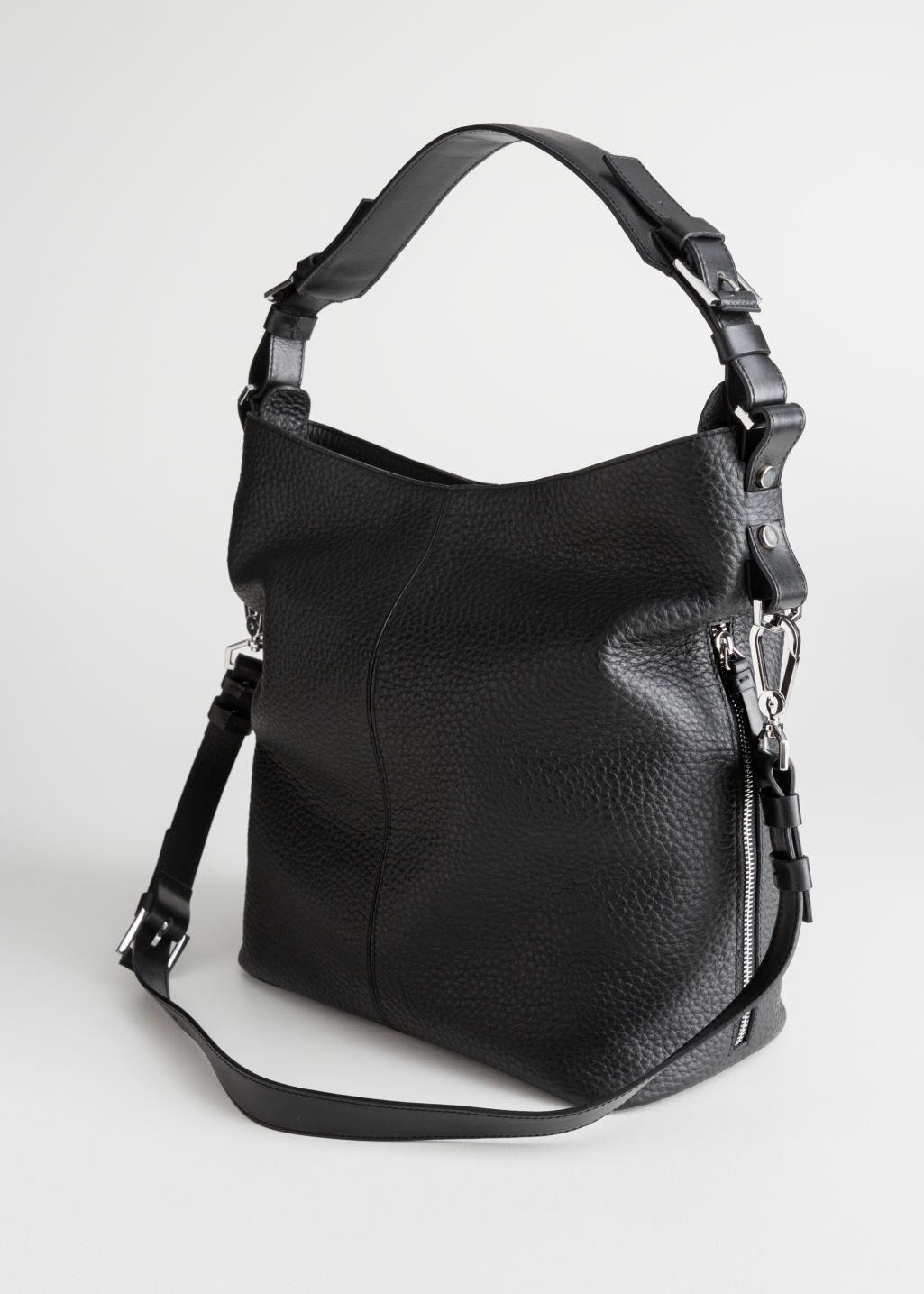 Grain Leather Hobo Bag Leather Hobo Bag Hobo Bag Leather Crossbody Bag
