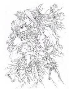 fantasy elf coloring pages bing images color pages pinterest