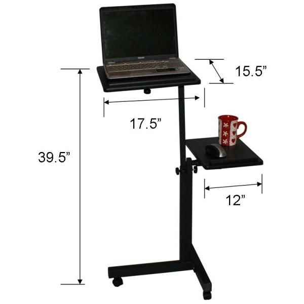 PROHOISTS   Rolling Computer Laptop Stand Cart Adjustable Height LT 2