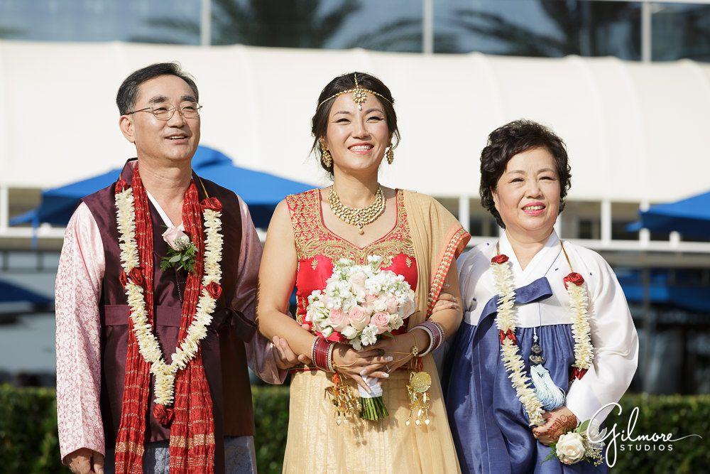 Hilton San Go Bayfront Wedding Indian Korean Gilmore Studios