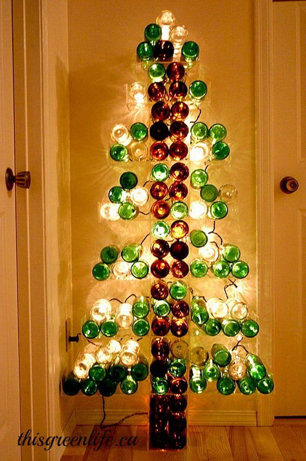 21 Wine Bottle Tree Wine Bottle Crafts Christmas Wine Bottle Christmas Tree Christmas Wine Bottles