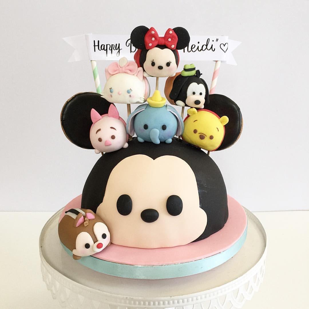 Tsum Tsum cake Celebration Cakes Pinterest Cake Birthdays