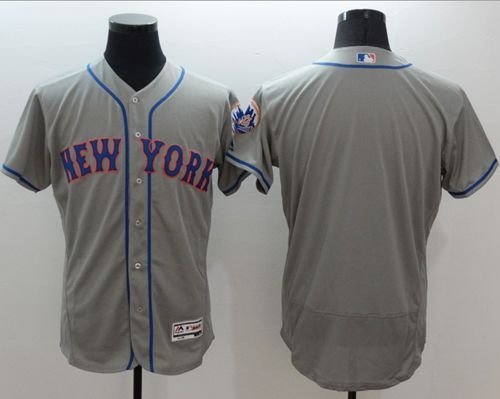 ... buy mets blank grey flexbase authentic collection stitched mlb jersey  faed4 87d7c get mens majestic new ... 67674cc71