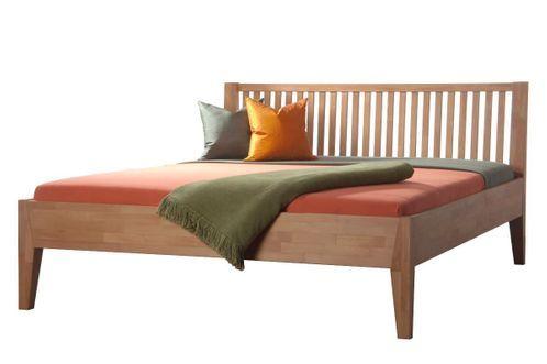 Massivholzbett OMEGA in Komforthöhe Bett, Massivholzbett