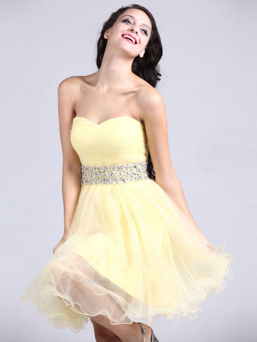 Find wholesale aline sweetheart tulle shortmini light yellow