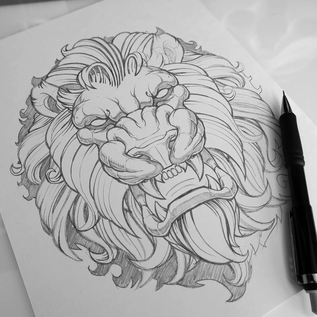 Pencil lion in 2019 Tattoo drawings, Art drawings
