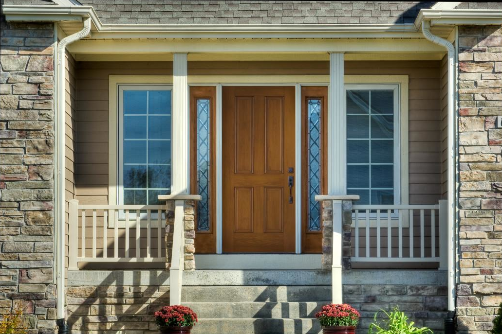 Flank Your Front Door With Sidelights And Windows To Add Natural Light Visit Pella Com Fiberglass Entry Doors Entry Doors Front Entry Doors