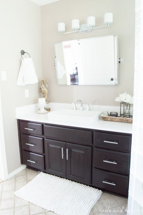 The Perfect New Master Bathroom Mirror The Kensington Pivot Mirror From Pottery Barn Www Tableandhearth Com Bathroom Pottery Barn Bathroom