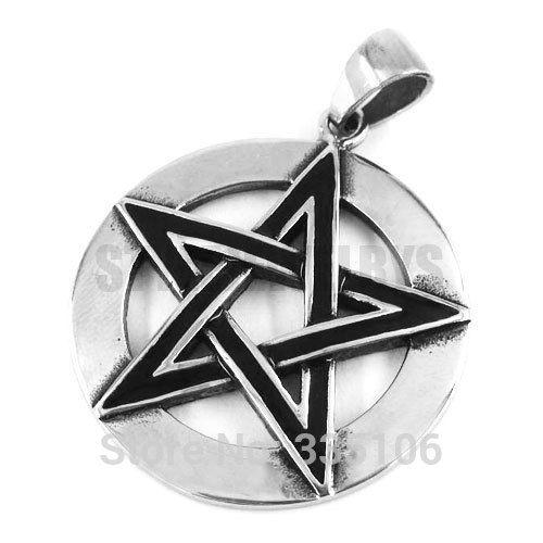 Free shipping! Classic Pentagram Pendant Stainless Steel Jewelry Captain America Biker Men Pendant SWP0324