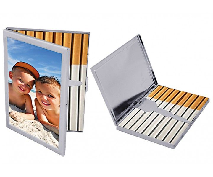 """""""If you are looking for a gift for someone who smokes, what better gift can be than a beautiful personalised cigarette case! Product Details: Aluminium Finish cigarette case holder Can Hold Multiple cigarettes Great gift for any occasion Can be personalized with any photo of your choice."""""""