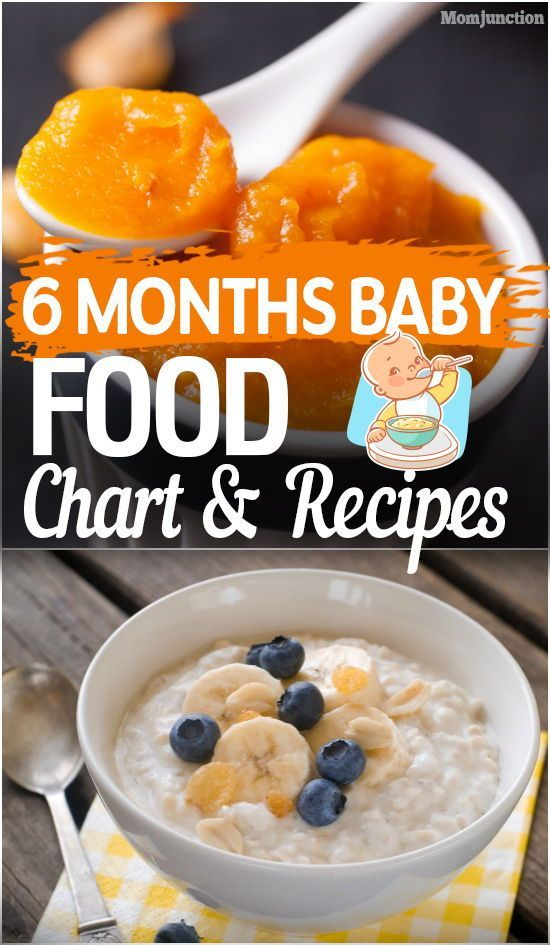 6 Months Baby Food Chart And Recipes Newborn To 12