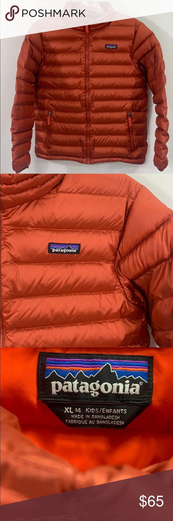 Patagonia kids down puffer jacket Size XL 14 Patagonia