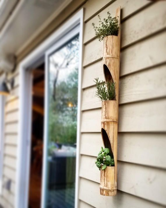 Hanging Bamboo Planter By Diylivingwalls On Etsy Bamboo 400 x 300
