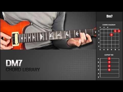 Guitar Chord Library D Chords Dm7 Youtube Guitar Chords D