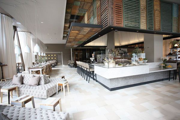 Restaurant With Old Wooden Louvered Shutter Ceiling Ella Dining Room Cafe Interior Design Dining Room Bar Bar Interior Design