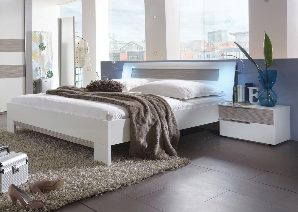 Bett Futonbett Alpinweiß Sandgrau 5037 Buy now at https\/\/www - rauch schlafzimmer ricarda