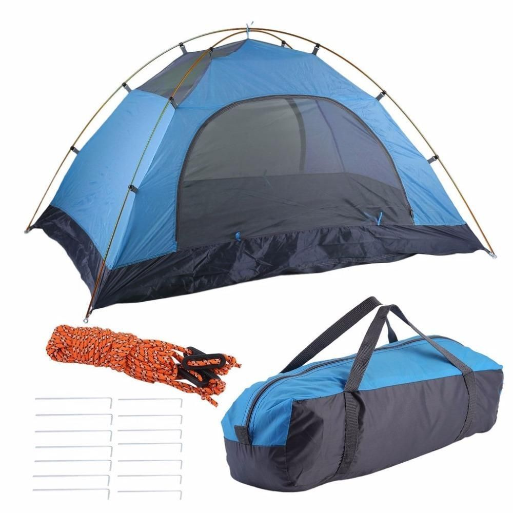 Super Lightweight Tents Waterproof Double Layers 2 Person Tents Outdoor C&ing Hiking 190T Polyester Portable Beach  sc 1 st  Pinterest & Super Lightweight Tents Waterproof Double Layers 2 Person Tents ...