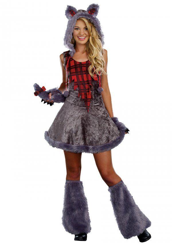 heres a cute teen werewolf costume for girls