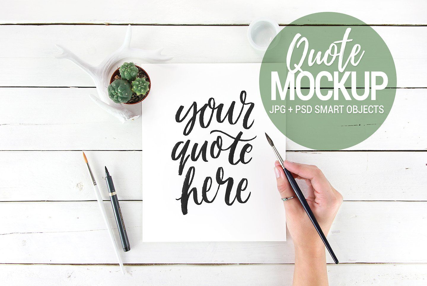 Quote Mockup Flatlay Styled Stock