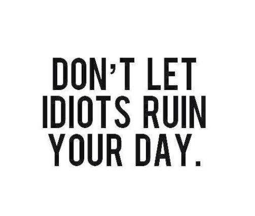 Don T Let Idiots Ruin Your Day Funny Quotes Quote Funny Quotes Humor Idiots Instagram Quotes Words Quotes Me Quotes Words