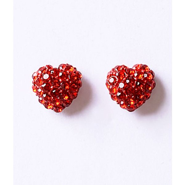 Red Ruby Rhinestone Heart Post Earrings ($14) ❤ liked on Polyvore featuring jewelry, earrings, multicolor, post earrings, multicolor earrings, ruby jewelry, multi colored jewelry and colorful jewelry
